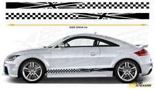 Audi TTS,TTRS Side Racing Stripes Car Stickers Vinyl Graphics Decal