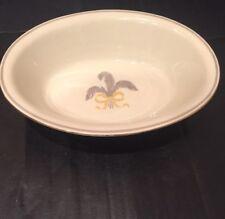 """Pirken Hammer Czechoslovakia 10"""" Long Oval Serving Bowl Grey Leaf Yellow Ribbon"""