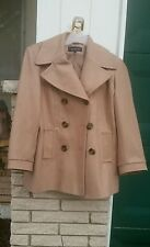 Peacoat sz.14 Jones New York Wool camel honey brown business career dress coat