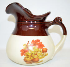 McCoy Pitcher Brown/Cream w/Leaves Grapes & Walnuts #7515