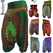 Aladin-Pump-Pluder-Hose Harem pants pantalon goa indien Inde Jumpsuit Pfau yoga