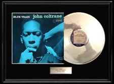 JOHN COLTRANE BLUE TRAIN ALBUM WHITE GOLD SILVER PLATINUM TONE RECORD LP RARE