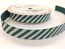 3m Bertie's Bows Candy Stripe 16mm Green Grosgrain Ribbon, Christmas, Wrap