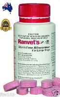 RANVET DOG ALLWORMER 4X TABLETS FOR 25KG & OVER FULL YEAR SUPPLY PUPPY BUY BULK