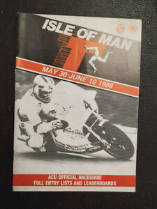 MOTORCYCLE RACING ISLE OF MAN MANX TT TOURIST TROPHY OFFICIAL RACE GUIDE 1988