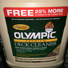 2.5 Gallons Olympic Deck Cleaner 52125 - Apply, Wait, Rinse - Great Cleanser!