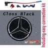 MERCEDES BENZ LED EMBLEM BLACK CAR STAR LOGO BADGE FRONT GRILL 2011-2020