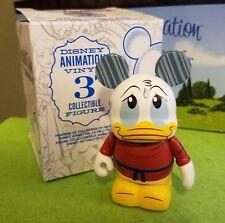 "Disney Vinylmation 3"" Park Set 2 Animation Donald Duck Rain Non Variant w/ Box"