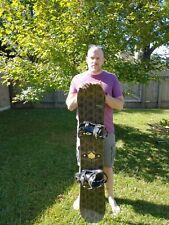 Burton Alpha 147 with bindings snowboard 147mm long 27mm wide.  Great buy!