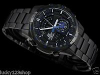 ERA-200DC-1A2 Black Blue Men's Watch Casio Edifice Chronograph 100m Compass