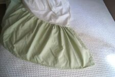 Pottery Barn Kids Light Lime Green Gathered Twin Bed Skirt