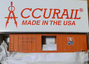 Accurail HO #5657 50' Exterior-Post Modern Boxcar - Kit -- Pacific Great Eastern