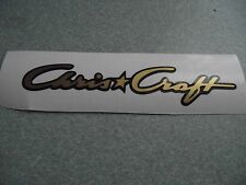 CHRIS CRAFT STYLE VINYL DECALS WITH SHADOW  FOR DUMAS  WOODEN BOAT MODEL