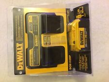 New DeWalt DCB102BP 20V 20 Volt Max XR Jobsite Dual Charger With DCB204 Battery