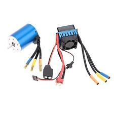 3650 3100KV/4P Sensorless Brushless Motor w/ 60A ESC for 1/10 RC Car Durable