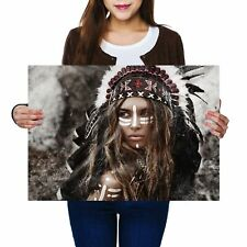 A2 - American Indian Hunter Girl Poster 59.4X42cm280gsm #12569
