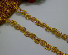 LOT 7 Yards Metallic Gold Venise Lace Trimming For Sewing/Craft Width 1.5 cm