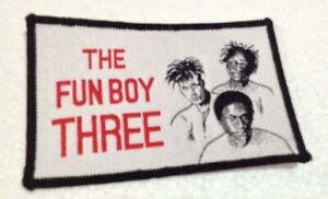 Fun Boy Three ex The Specials vintage 1980s SEW-ON PATCH - POSTFREE to UK