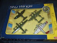 Motor Max WWII Sky Wings Planes 4-Pack #76344 New Sealed!!