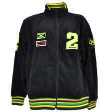 BB London Brand Jamaican Flag Rasta Rastafari Fleece Track Jacket Sweater Medium