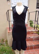 BLUMARINE BLACK STRETCH SLEEVELESS DRESS Sz M Made In Italy