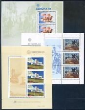 Portugal Azores 1981 to 1991 run of Europa sheets unmounted mint (2016/12/10#03)