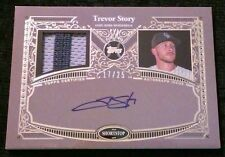 2017 Topps Series 1 TREVOR STORY #17/25! Autograph 2 Color Patch Reverence SSP