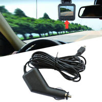 1 Piece USB DC Car Charger Adapter Power Cable Black For Car Dash Cam DVR GPS