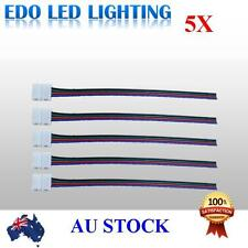 5pcs LED Strips 10mm PCB board with wire Connector for RGB LED Strip 4 Pin