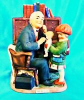 """""""Doctor and the Doll"""" 1973 Norman Rockwell Grossman Porcelain Figurine"""
