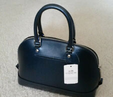Coach Metallic blue Debossed Leather Satchel Handbag