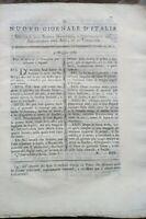 1789 NUOVO GIORNALE D'ITALIA SUI BACHI DA SETA; COLTURA DELL'AVENA ALTISSIMA