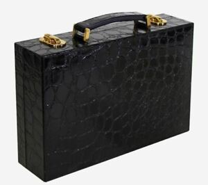 TERRIDA Eyeglass Holder Garment Bag Travel Real Embossed Calf Leather