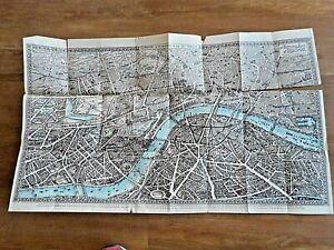 Pictorial Plan of London 1901 Original Map Chromolithograph-Rare