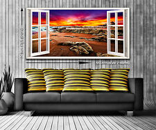 Red Horizon Panoramic Canvas Print XXL 4.5 ft Wide x 2 ft High 55 in x 24 in