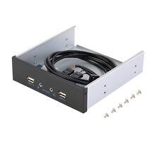 20 Pin Hub 2 puertos USB 2.0 + panel frontal de unidad de expansión de sonido HD Soporte