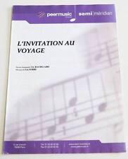 Partition sheet music BAUDELAIRE / LEO FERRE : L'invitation au Voyage * 50's
