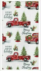 40 Red Farm Truck Guest Towels  Paper Napkins Merry Christmas Tree