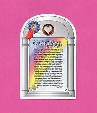 """Rainbow Bridge"" Poem - Pet Memorial Verse Card with Heart Penny - SKU# 977"