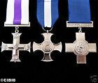 GENIAL George Cruz Militar Medalla Juego de 3 para GALLANTRY & HEROISM REPRO