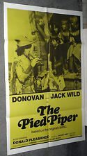 THE PIED PIPER Orig 1972 Rare One Sheet Movie Poster DONOVAN LEITCH/JACK WILD