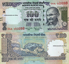 INDIA 2015 100 RS L Inset Telescopic Gandhi Paper Money Currency UNC NEW Rare