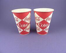 COCA Cola-Coppia di 1960 S originale inutilizzato Cerato TAZZE-Progettazione di diamante