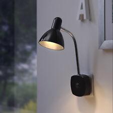 LED Steckdosenlicht Nachtlicht Steckerleuchte Wand Spot Strahler Schwarz P14 B