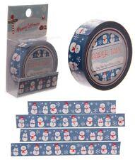 Klebeband Masking Tape Scrapbooking Weihnachten Basteln Bastelband Schneemann