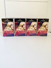 Lot of 4 Schwarzkopf Keratin Hair Color 12.0 Light Pearl Blonde Permanent New