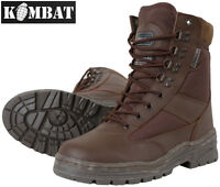 Combat Military Full All Leather Army Combat Patrol Boot Brown Tactical Cadet