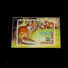 TOPICAL, ANIMALS, GUINEA, 1976, FOX, IMPERF. SOUVENIR SHEET, MNH, LOT #50, LQQK