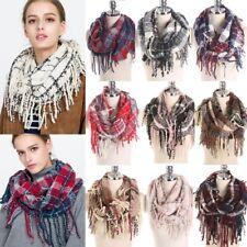 2 Circle Warm Women Tassel Infinity Scarves Women Girl Pashmina Cowl Neck Shawl