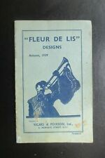 1939 FLEUR DE LIS DESIGNS VICARS & POIRSON ILLUSTRATED CATALOGUE NEEDLEWORK